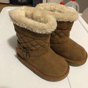 Cat & Jack Faux Fur Suede Boots